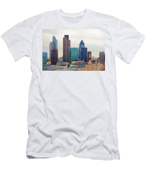London Skyline Men's T-Shirt (Athletic Fit)