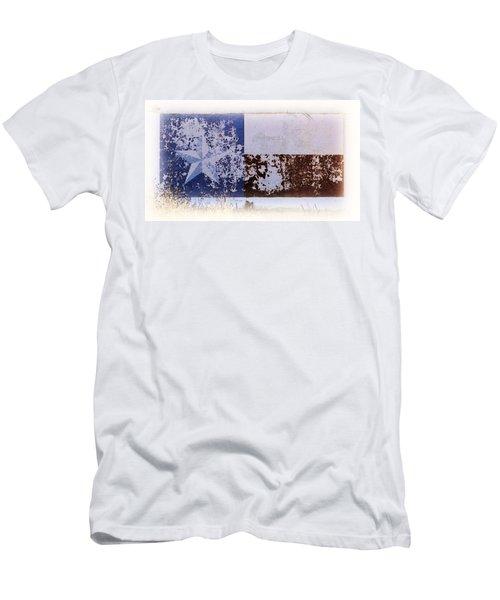 Lone Star Flag Mural Men's T-Shirt (Slim Fit) by Nadalyn Larsen