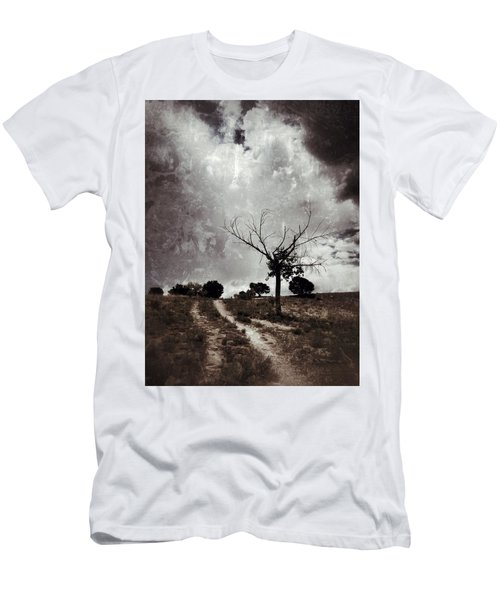 Lonely Tree Men's T-Shirt (Slim Fit) by Mark David Gerson