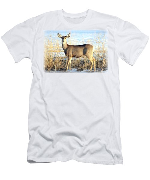 Men's T-Shirt (Slim Fit) featuring the photograph Lonesome Doe Sunset by Barbara Chichester