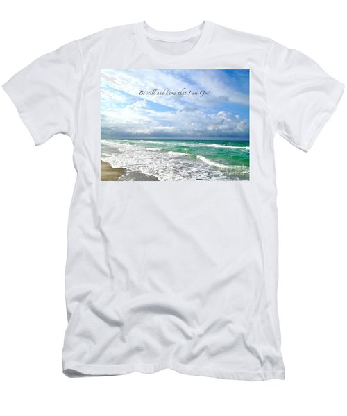 Men's T-Shirt (Slim Fit) featuring the photograph Be Still by Margie Amberge