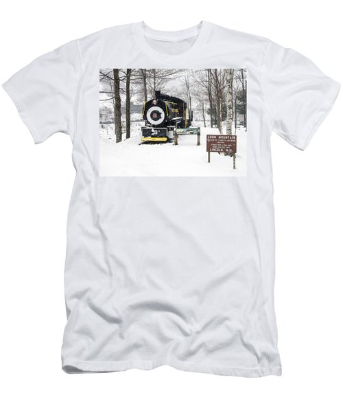 Loon Mountain Train Men's T-Shirt (Athletic Fit)