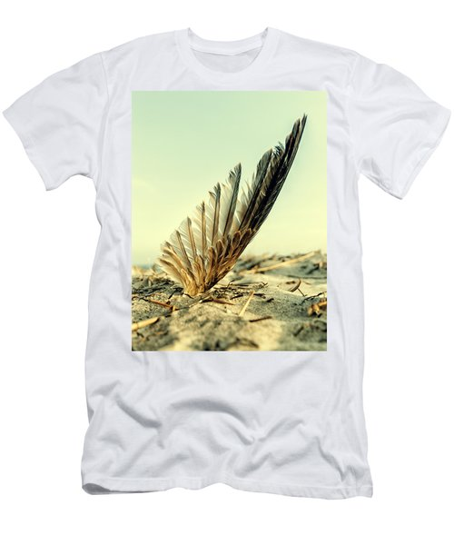 Lost Feather At The Beach Men's T-Shirt (Athletic Fit)