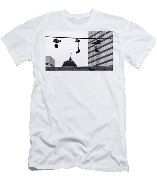 Lost Soles - Urban Metaphors Men's T-Shirt (Slim Fit) by Steven Milner