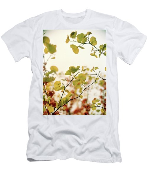 Men's T-Shirt (Slim Fit) featuring the photograph Love Leaf by Rebecca Harman