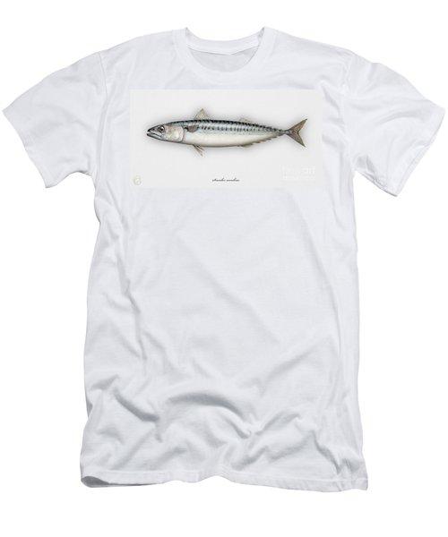 Mackerel Scomber Scombrus  - Maquereau - Caballa - Sarda - Scombro - Makrilli - Seafood Art Men's T-Shirt (Athletic Fit)