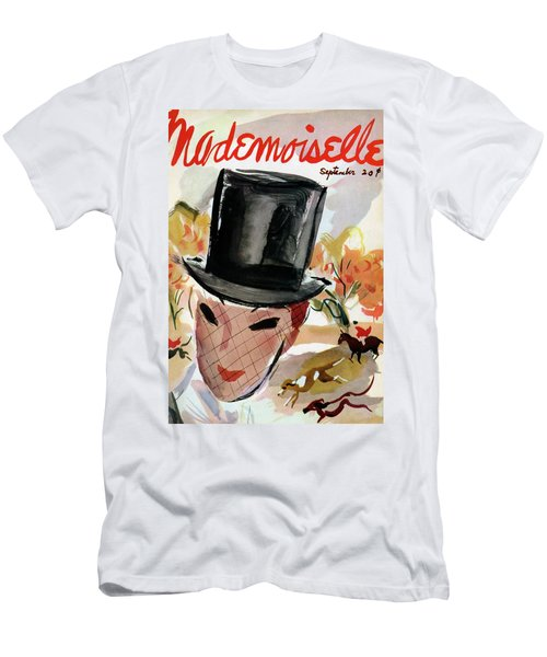 Mademoiselle Cover Featuring A Female Equestrian Men's T-Shirt (Athletic Fit)