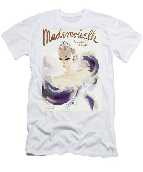 Mademoiselle Cover Featuring A Woman In A Gown Men's T-Shirt (Athletic Fit)