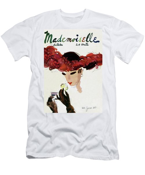 Mademoiselle Cover Featuring A Woman In A Red Men's T-Shirt (Athletic Fit)