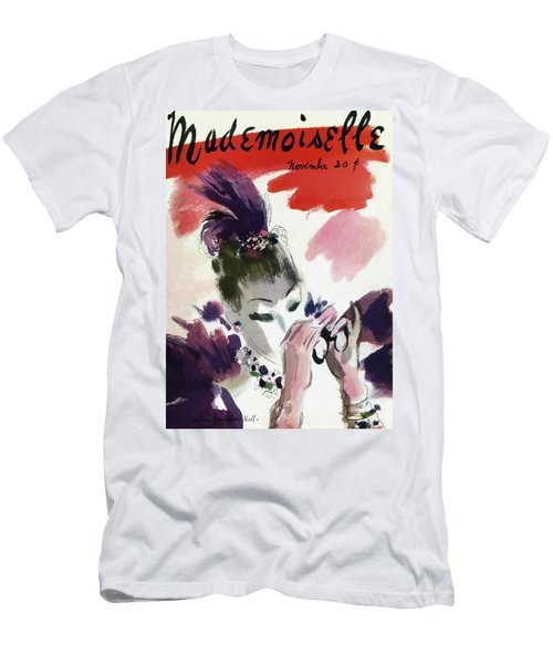 Mademoiselle Cover Featuring A Woman Looking Men's T-Shirt (Athletic Fit)