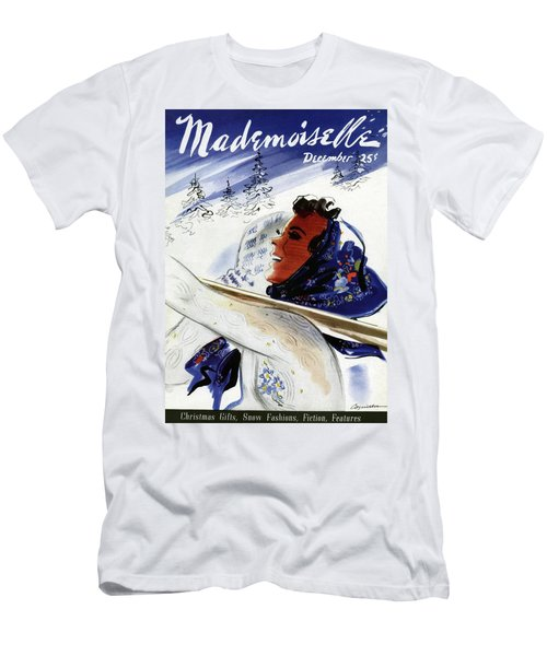 Mademoiselle Cover Featuring An Illustration Men's T-Shirt (Athletic Fit)