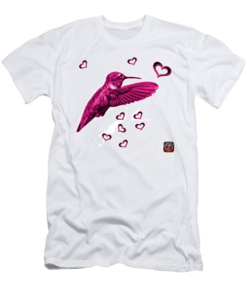 Magenta Hummingbird - 2055 F S M Men's T-Shirt (Athletic Fit)