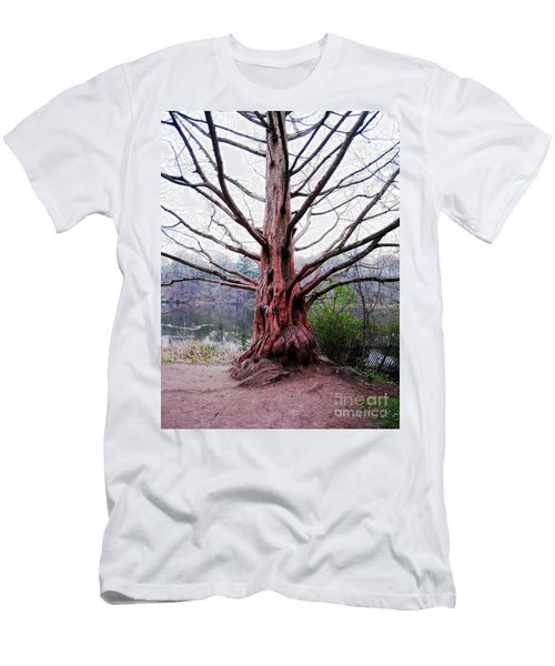 Men's T-Shirt (Slim Fit) featuring the photograph Magic Tree by Nina Silver