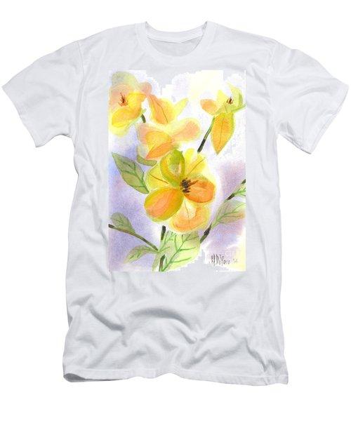 Men's T-Shirt (Slim Fit) featuring the painting Magnolias Gentle by Kip DeVore