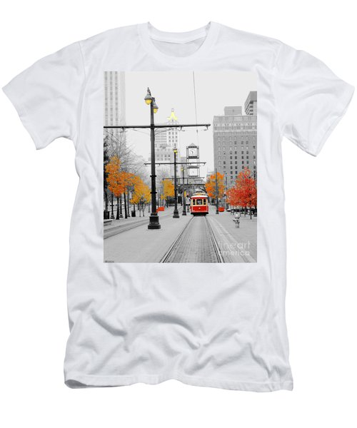 Main Street Trolley  Men's T-Shirt (Athletic Fit)