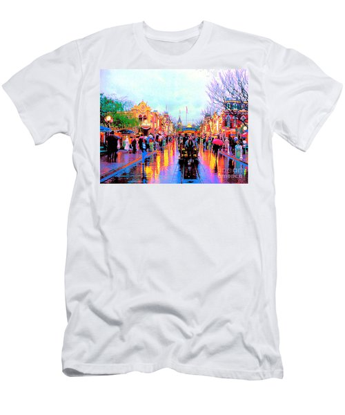 Men's T-Shirt (Slim Fit) featuring the photograph Mainstreet Disneyland by David Lawson