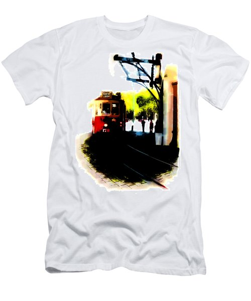 Make Way For The Tram  Men's T-Shirt (Athletic Fit)