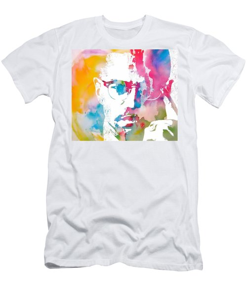 Malcolm X Watercolor Men's T-Shirt (Athletic Fit)