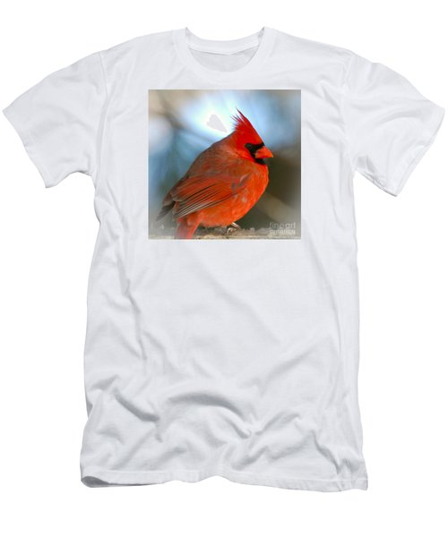 Men's T-Shirt (Slim Fit) featuring the photograph Male Cardinal  by Kerri Farley