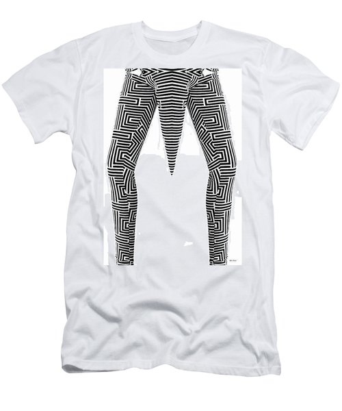 Men's T-Shirt (Slim Fit) featuring the painting Man Maze by Rafael Salazar