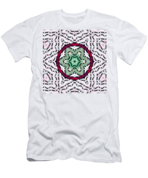 Men's T-Shirt (Slim Fit) featuring the photograph Mandala 7 by Terry Reynoldson