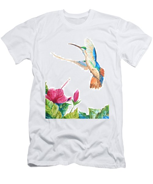 Mango Hummingbird Men's T-Shirt (Athletic Fit)