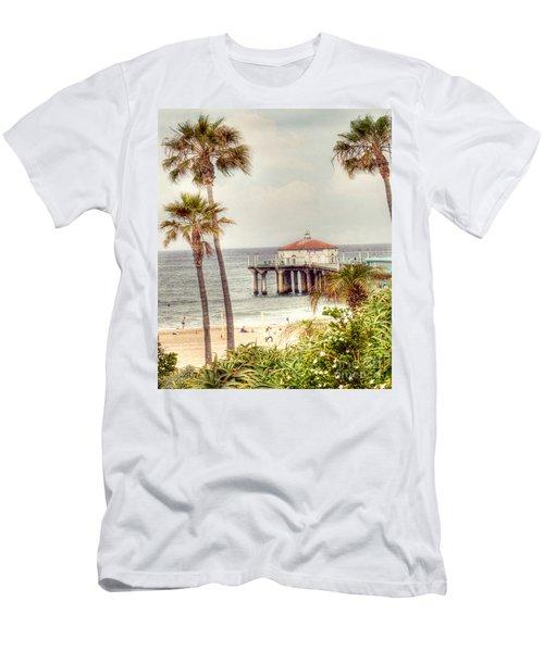 Manhattan Beach Pier Men's T-Shirt (Athletic Fit)