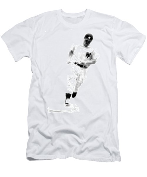 Mantles Gate  Mickey Mantle Men's T-Shirt (Slim Fit) by Iconic Images Art Gallery David Pucciarelli