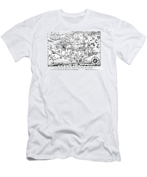 Map Of Fort Ord Army Base Monterey California Circa 1950 Men's T-Shirt (Athletic Fit)