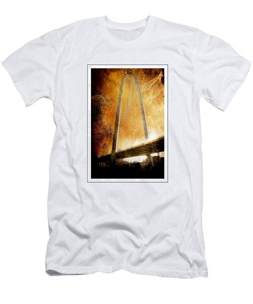 Margaret Hunt Hill Bridge Dallas Texas Men's T-Shirt (Athletic Fit)