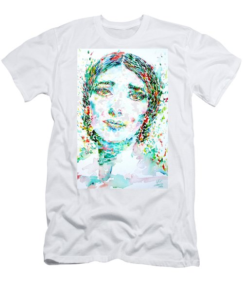 Maria Callas - Watercolor Portrait.1 Men's T-Shirt (Athletic Fit)
