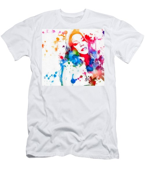 Mariah Carey Watercolor Paint Splatter Men's T-Shirt (Athletic Fit)