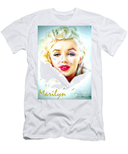 Marilyn Monroe Men's T-Shirt (Slim Fit) by Barbara Chichester