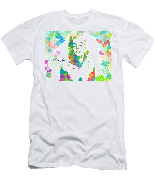 Marilyn Monroe Flowering Beauty Men's T-Shirt (Athletic Fit)