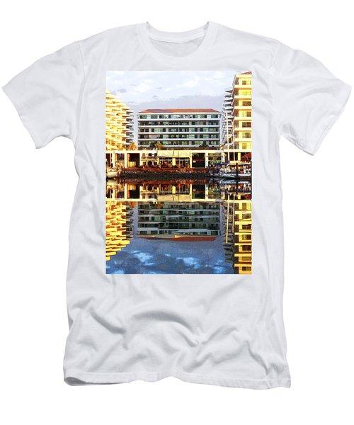 Marina Mazatlan Mirror Men's T-Shirt (Slim Fit)