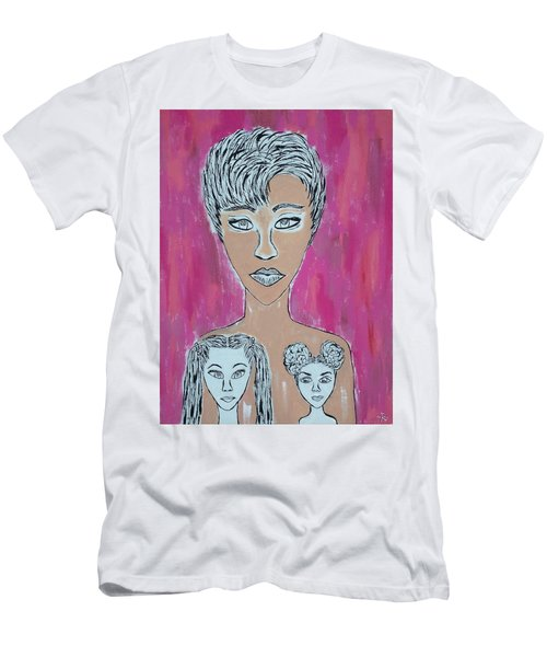 Mother And Daughters Painting And Drawing Men's T-Shirt (Athletic Fit)