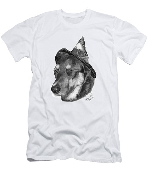 Men's T-Shirt (Slim Fit) featuring the drawing Marlee In Witch's Hat -021 by Abbey Noelle