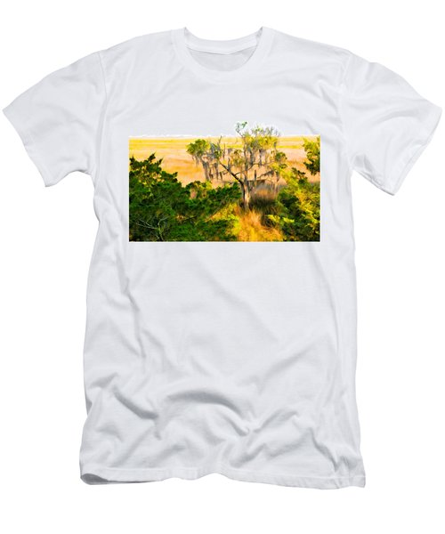 Marsh Cedar Tree And Moss Men's T-Shirt (Athletic Fit)