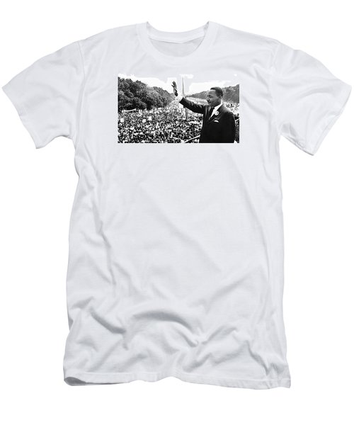 Martin Luther King The Great March On Washington Lincoln Memorial August 28 1963-2014 Men's T-Shirt (Slim Fit) by David Lee Guss