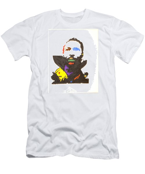 Men's T-Shirt (Slim Fit) featuring the painting Marvin Gaye by Stormm Bradshaw