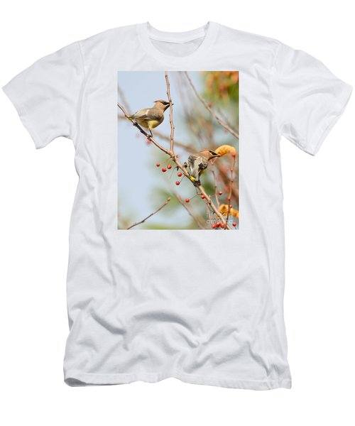 Men's T-Shirt (Slim Fit) featuring the photograph Masked Duo by Kerri Farley