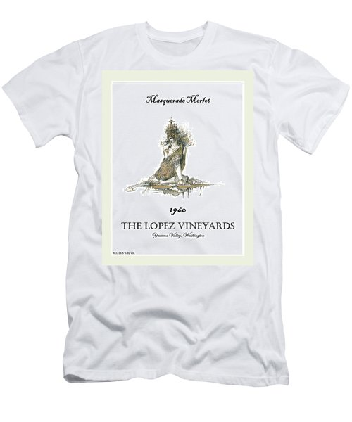 Masquerade Merlot Men's T-Shirt (Athletic Fit)