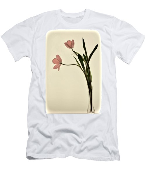 Mauve Tulips In Glass Vase Men's T-Shirt (Athletic Fit)