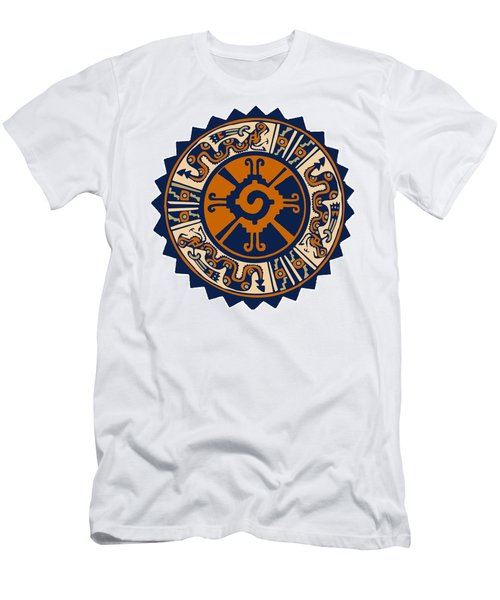 Men's T-Shirt (Slim Fit) featuring the digital art Mayan Hunab Ku by Vagabond Folk Art - Virginia Vivier