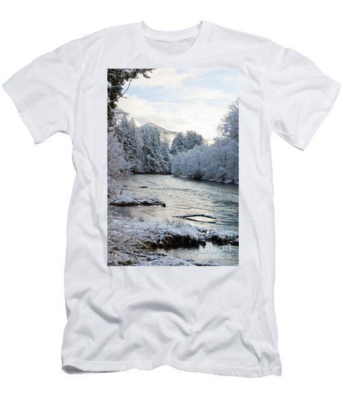 Men's T-Shirt (Slim Fit) featuring the photograph Mckenzie River by Belinda Greb