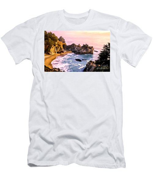 Mcway Falls Pacific Coast Men's T-Shirt (Athletic Fit)