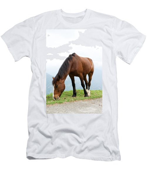 Men's T-Shirt (Slim Fit) featuring the photograph Meal Time by Yew Kwang