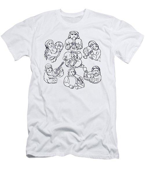 Medieval Musicians Men's T-Shirt (Athletic Fit)