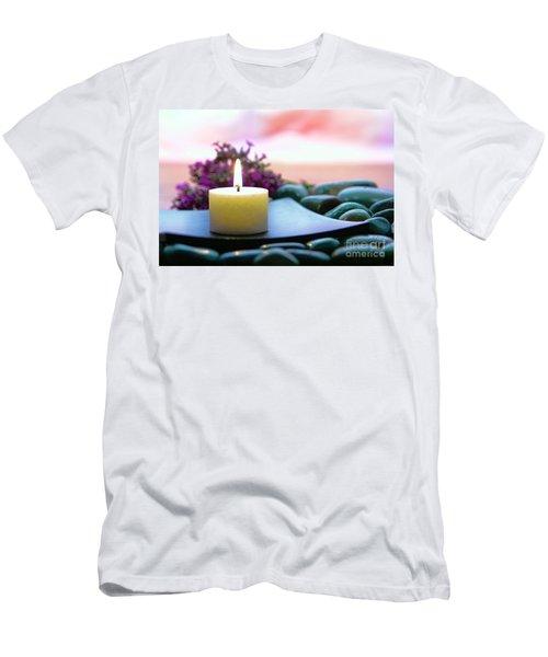 Meditation Candle Men's T-Shirt (Athletic Fit)