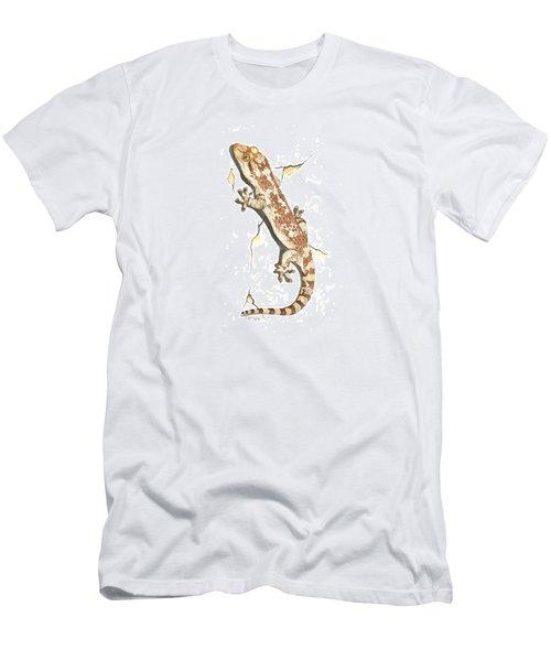 Mediterranean House Gecko Men's T-Shirt (Slim Fit) by Cindy Hitchcock